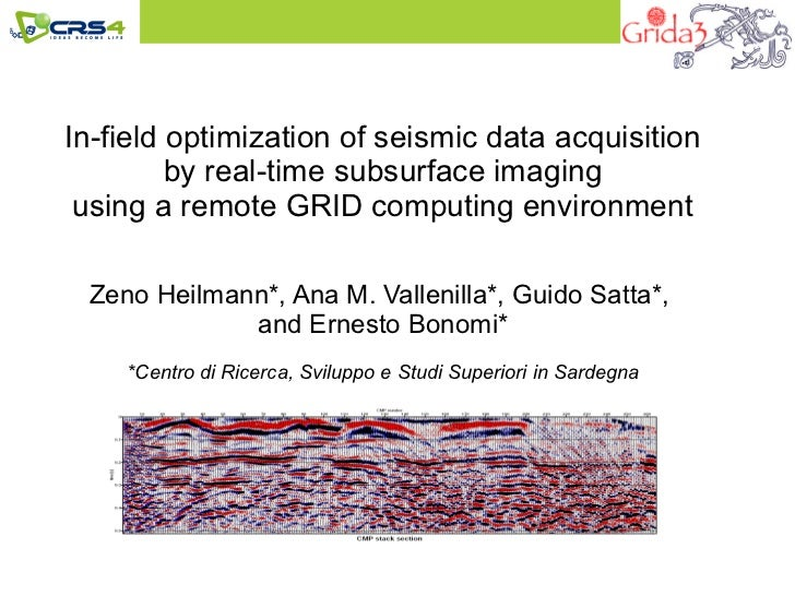 In field optimization of seismic data acquisition by real-time subsurface imaging using a remote grid computing environment