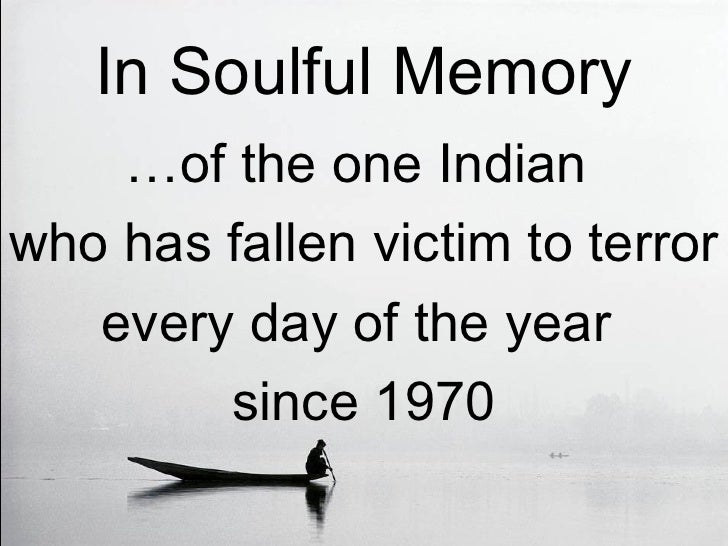 A Tribute to Victims of Terrorism in India
