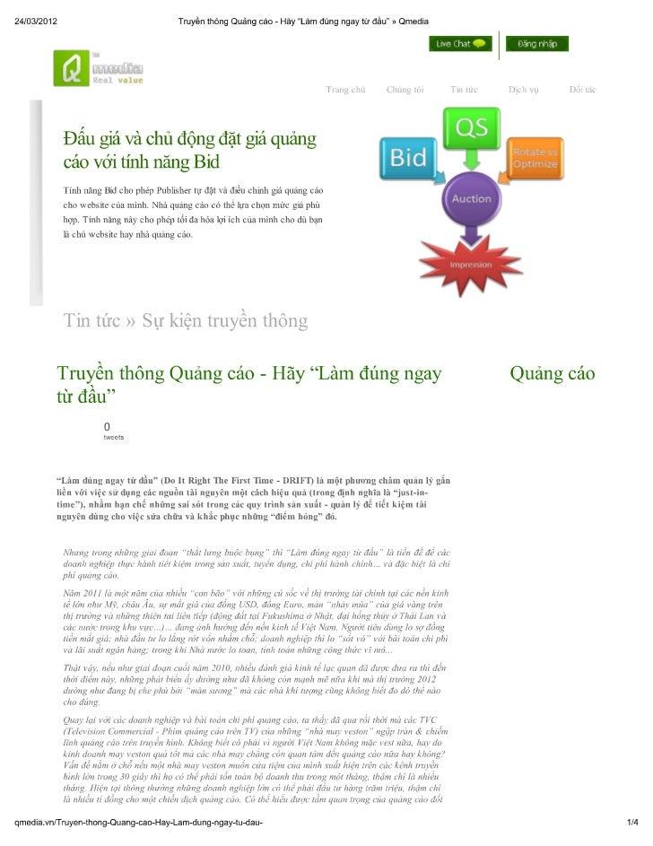 """Truyền thông quảng cáo - hãy """"làm đúng ngay từ đầu"""" » qmedia"""