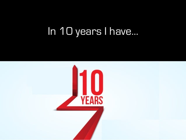 In 10 years I have…