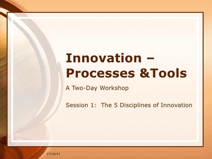 In 1 the 5 disciplines oct 2011