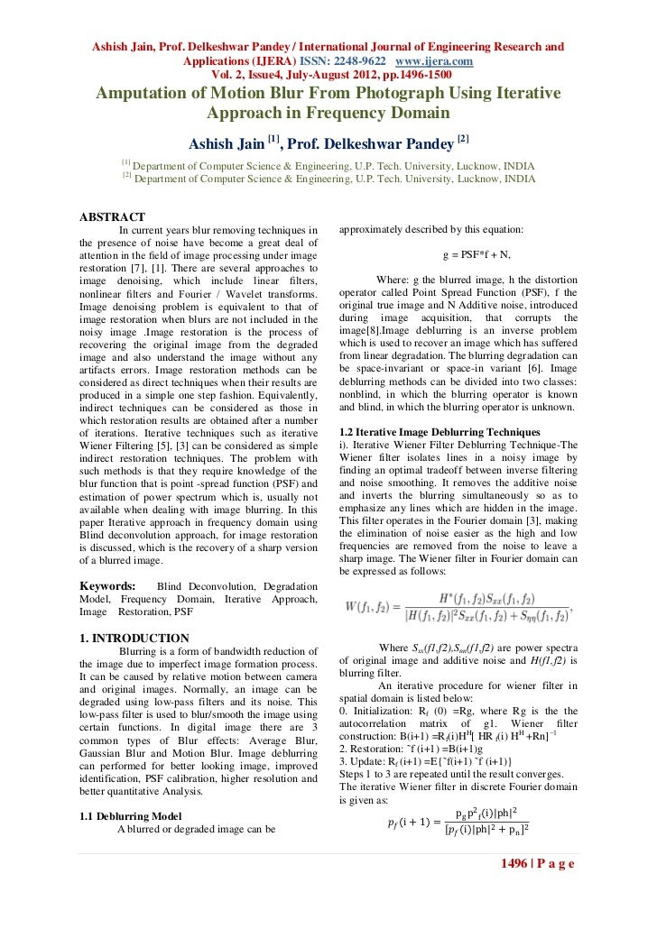 Ashish Jain, Prof. Delkeshwar Pandey / International Journal of Engineering Research and                   Applications (I...