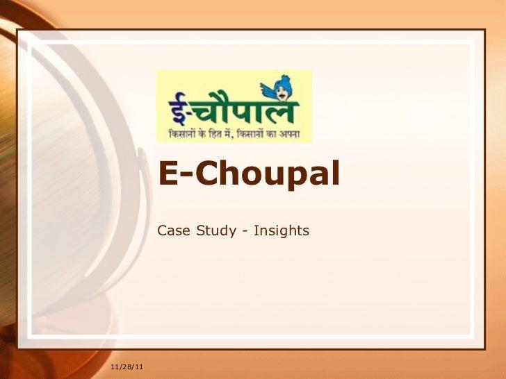 In 6 e-Choupal Case Study