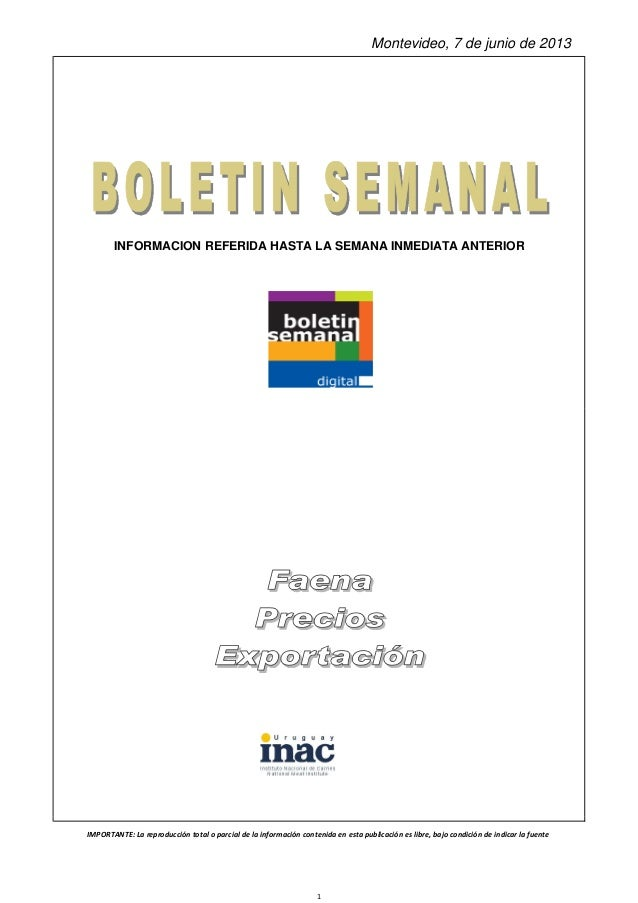 Inac  -boletin_semanal_01_06_2013