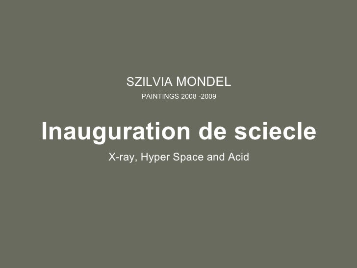 Inauguration De Siecle