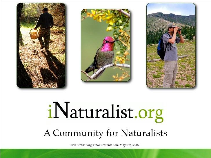 iNaturalist: i213 Final Presentation