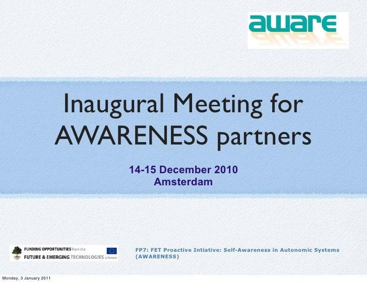 Inaugural awareness-meeting-dec-2010