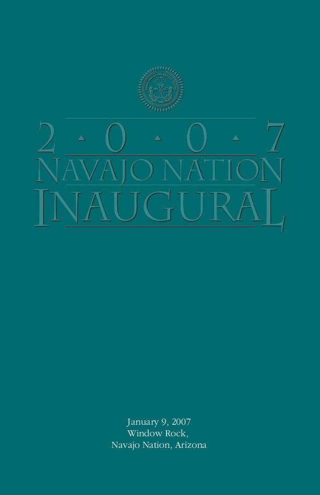 Navajo Nation Presidential Inauguration Program