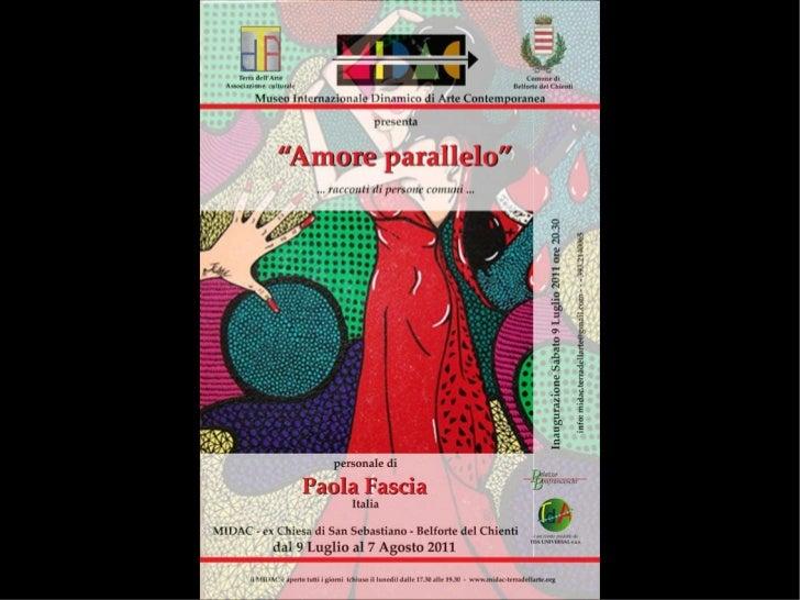 Inaugurazione Mostra Paola Fascia al MIDAC