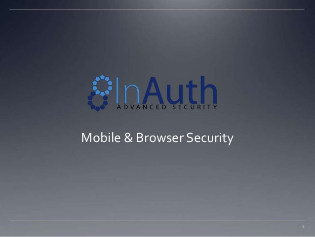 1 Mobile & Browser Security