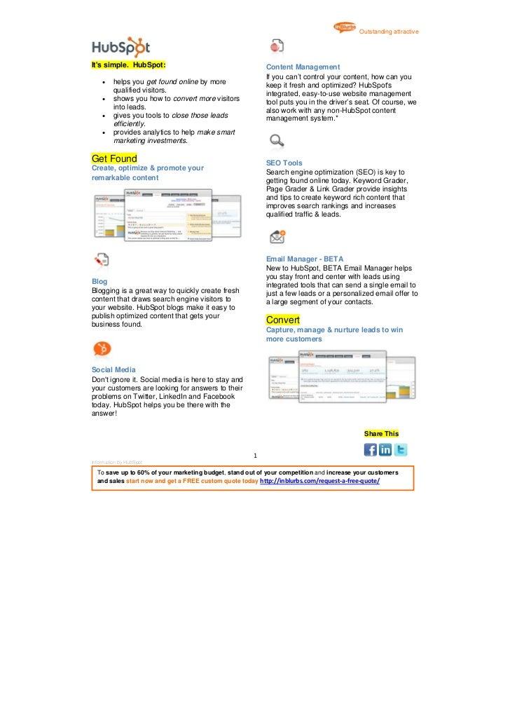 inBlurbs HubSpot Marketing Automation Software