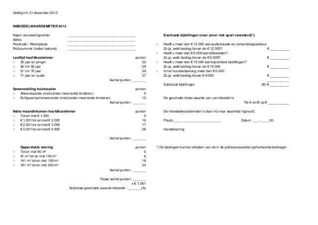 Inboedelwaardemeter verzekering inboedelverzekering_2013