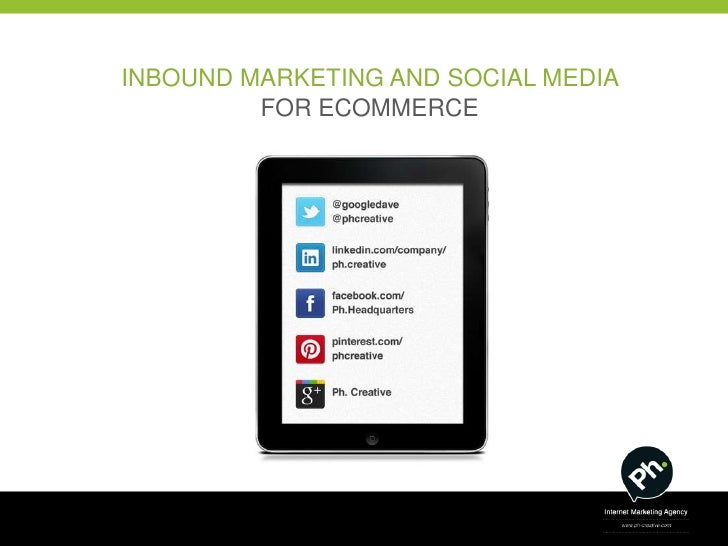 INBOUND MARKETING AND SOCIAL MEDIA         FOR ECOMMERCE