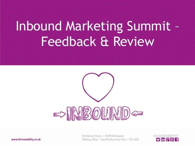 Inbound Marketing Summit – Feedback & Review