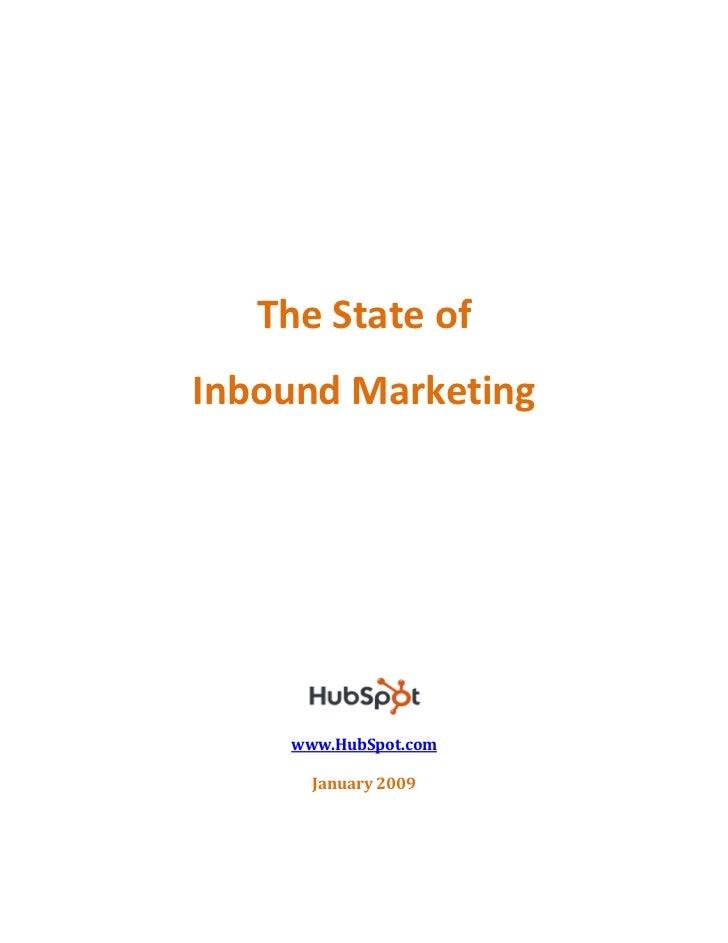 State of Inbound Marketing by HubSpot