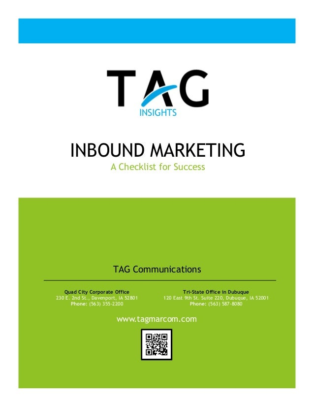 Inbound Marketing Checklist for Success