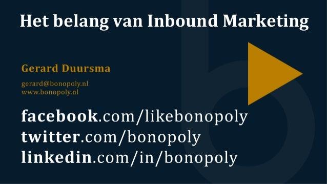 Het  belang  van  Inbound  Marketing