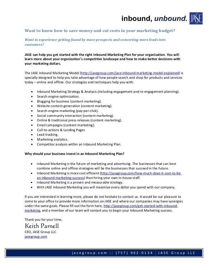 Inbound Marketing - save money, cut costs