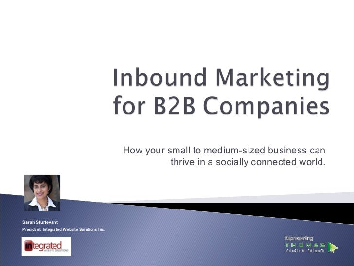 Inbound marketing for B2B Companies