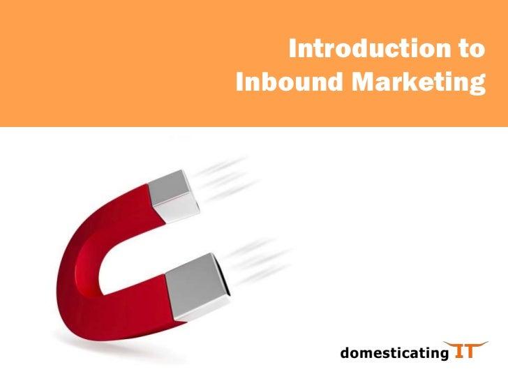 Inbound Marketing Workshop - Introduction