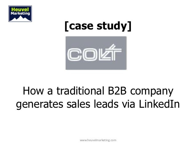 [case study] How a traditional B2B companygenerates sales