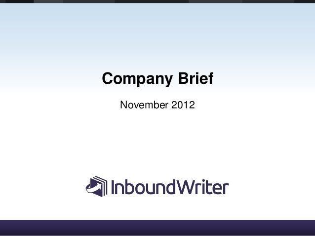 InboundWriter Enterprise PPT