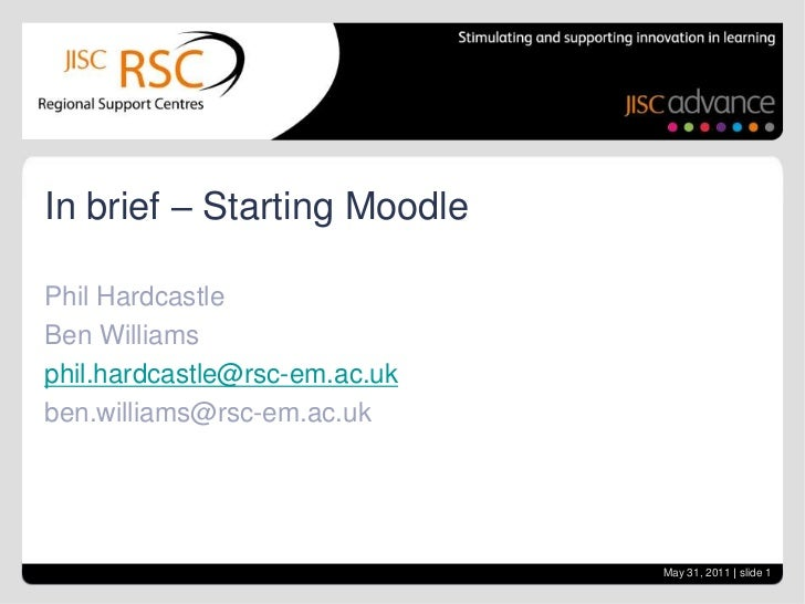 In brief   starting moodle