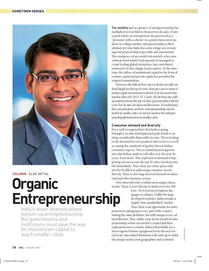 Inc - organic entrepreneurship