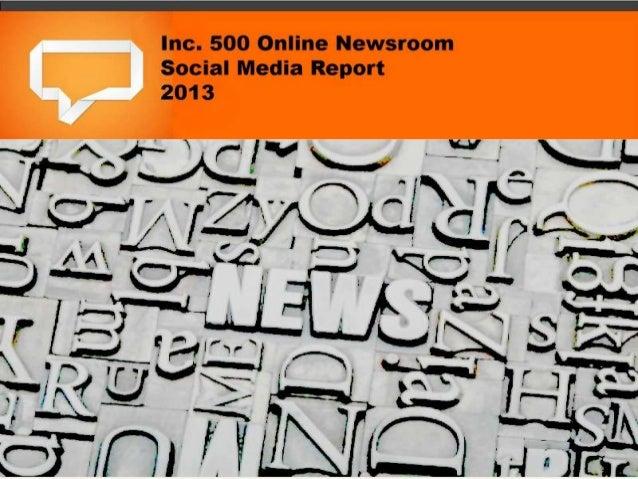 Inc 500 online newsrooms report 2013
