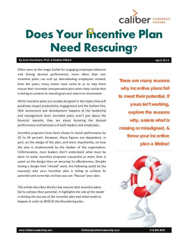 mgt 431 incentive plans paper