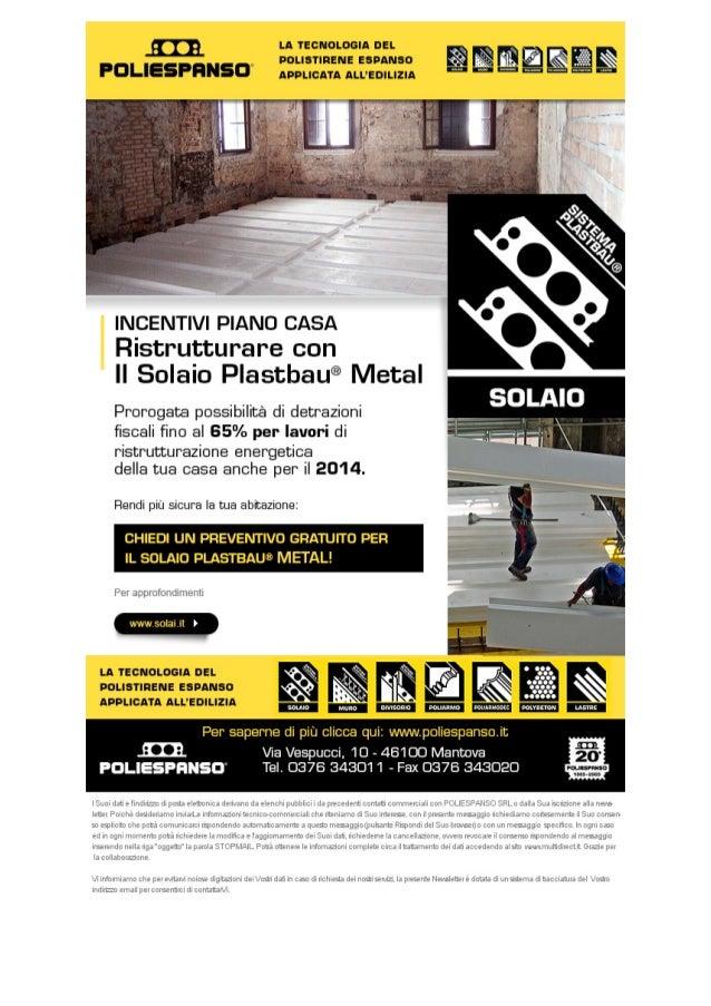 Incentivi piano casa: ristrutturare con solaio Plastbau Metal