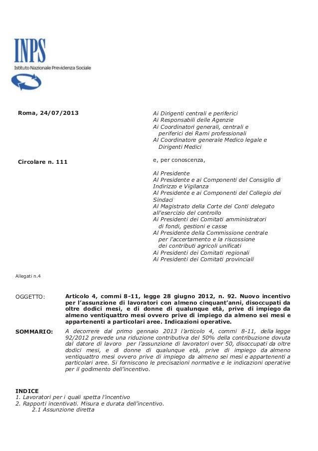 Incentivi assunzione donne e over 50 chiarimenti inps