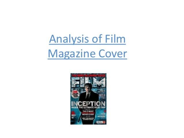 Analysis of FilmMagazine Cover