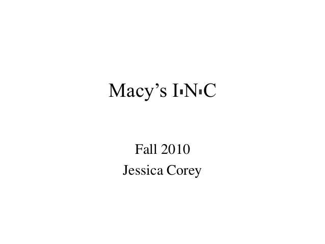 Macy's I N C Fall 2010 Jessica Corey