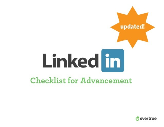 LinkedIn Checklist for Advancement