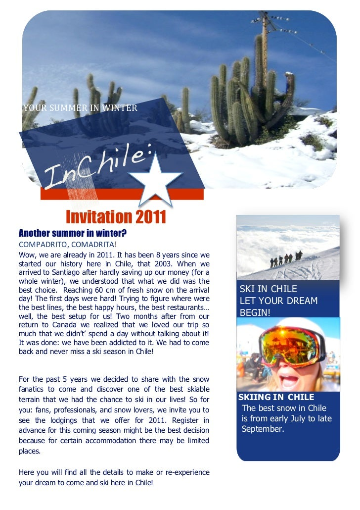 YOURSUMMERINWINTER                                                       Invitation 2011Another summer in winte...