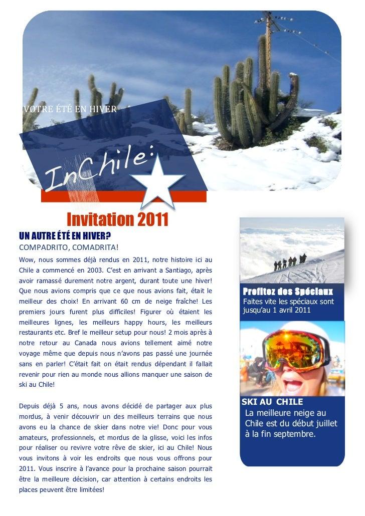VOTREÉTÉENHIVER                                                       Invitation 2011       UN AUTRE ÉTÉ EN HIVE...