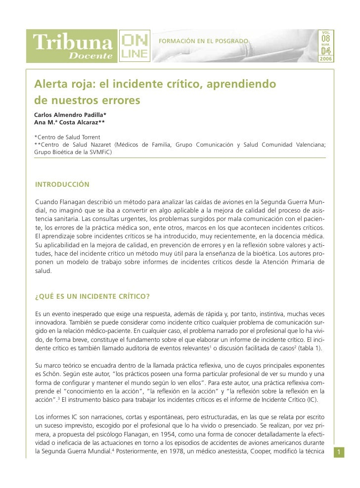 Incidente Crítico (Tribuna Docente On-Line)