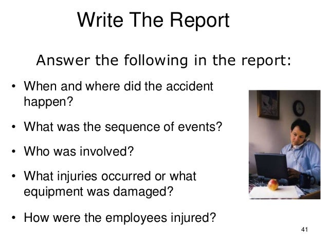 Report writing services youtube incident