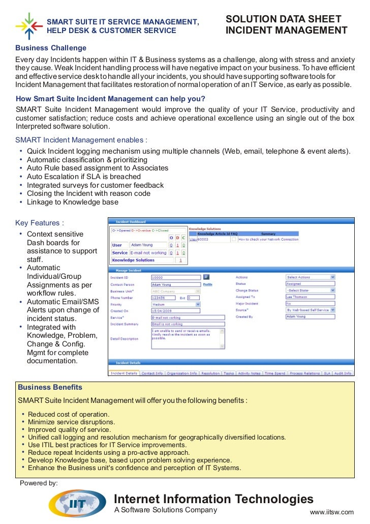 Incident problem management_datasheet