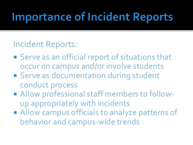 incident report writing training