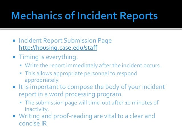 incident study guide essay