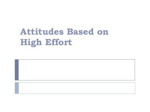 high effort attitude