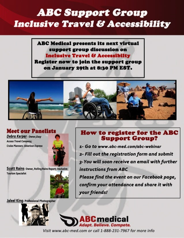 Inclusive Travel and Accessiblilty Virtual Support Group
