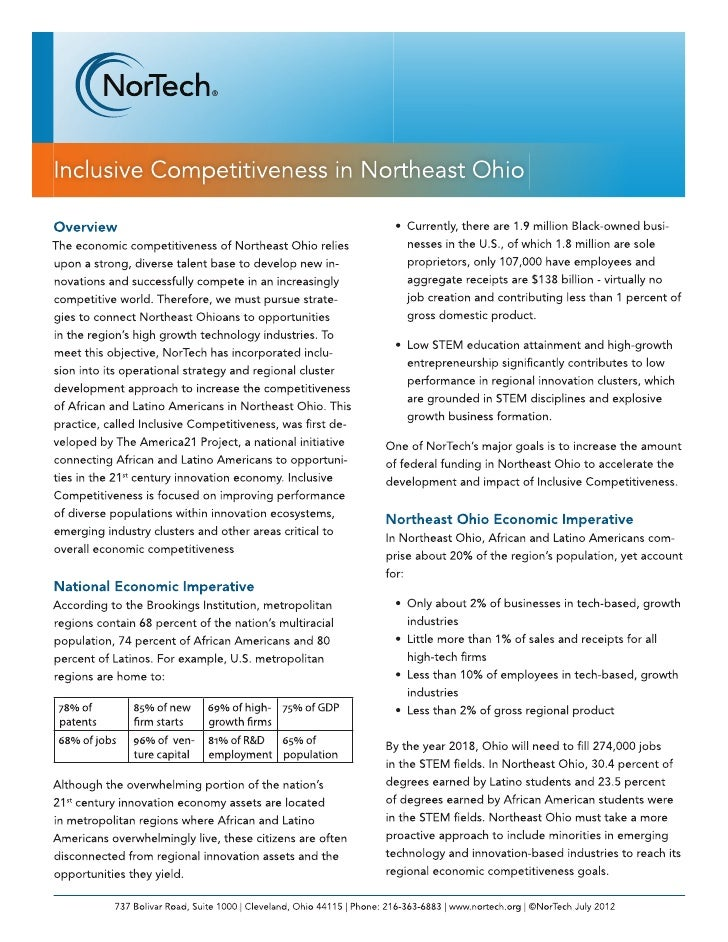 Nortech: Inclusive Competitiveness in Northeast Ohio