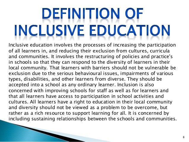 dissertations on barriers to inclusive education