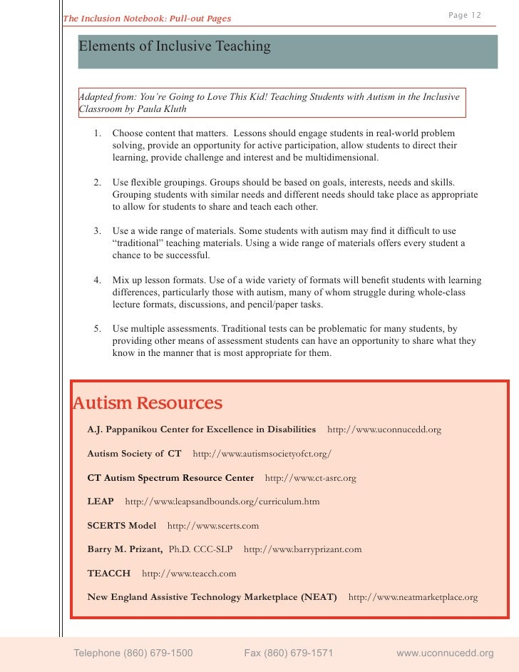 inclusive education and asd Presentation to assist emerging teachers with inclusive teaching strategies for students with asd.
