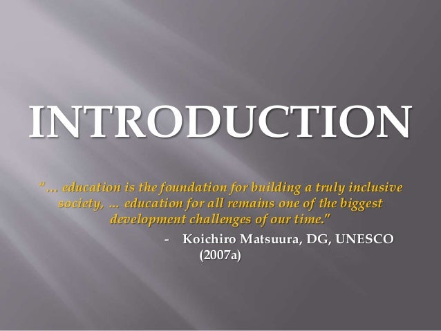 Phd dissertation reports in inclusive education