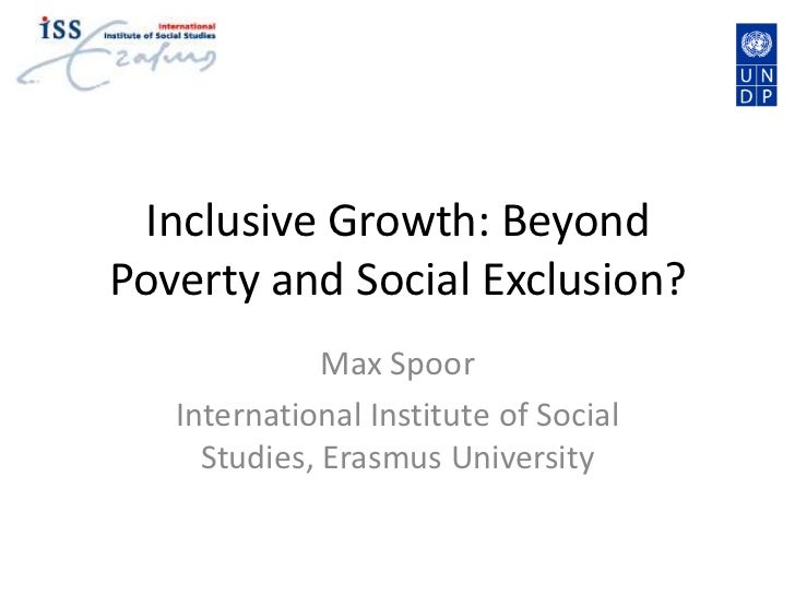 Inclusive Growth Beyond Poverty and Social Exclusion