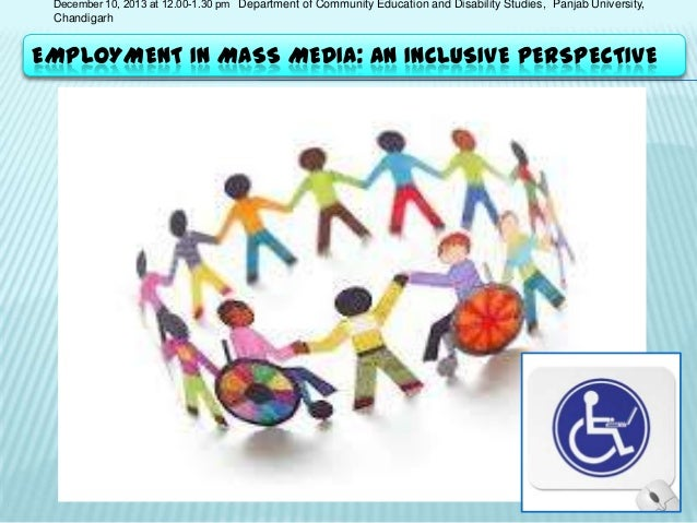 December 10, 2013 at 12.00-1.30 pm Department of Community Education and Disability Studies, Panjab University,  Chandigar...